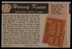 1955 Bowman #132 ERR Harvey Kuenn  Back Thumbnail