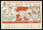 1956 Topps #69  Chuck Tanner  Back Thumbnail