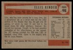 1954 Bowman #98  Ellis Kinder  Back Thumbnail