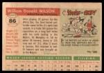 1955 Topps #86  Bill Wilson  Back Thumbnail