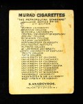 1909 T51 Murad College Series #45   University of Chicago / Track Back Thumbnail
