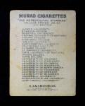 1909 T51 Murad College Series #34   Minnesota / Track Back Thumbnail