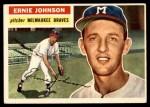 1956 Topps #294  Ernie Johnson  Front Thumbnail