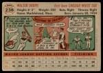 1956 Topps #238  Walt Dropo  Back Thumbnail
