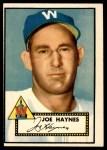 1952 Topps #145 CRM Joe Haynes  Front Thumbnail