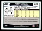 2006 Topps #230  Peter Warrick  Back Thumbnail