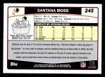 2006 Topps #245  Santana Moss  Back Thumbnail