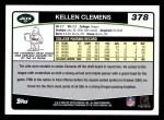 2006 Topps #378  Kellen Clemens  Back Thumbnail