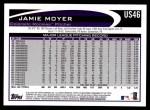 2012 Topps Update #46  Jamie Moyer  Back Thumbnail