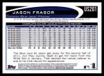 2012 Topps Update #201  Jason Frasor  Back Thumbnail
