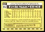 1990 Topps Traded #63 T Kevin Maas  Back Thumbnail