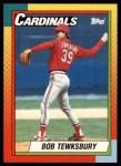 1990 Topps Traded #122 T Bob Tewksbury  Front Thumbnail