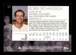 2001 Topps American Pie #11  Bobby Richardson  Back Thumbnail