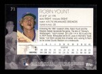 2001 Topps American Pie #71  Robin Yount  Back Thumbnail