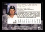 2001 Topps American Pie #80  Thurman Munson  Back Thumbnail