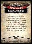 2010 Topps Cards Your Mom Threw Out #89 CMT Steve Carlton  Back Thumbnail