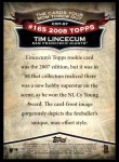 2010 Topps Cards Your Mom Threw Out #57 CMT Tim Lincecum  Back Thumbnail
