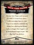 2010 Topps Cards Your Mom Threw Out #39 CMT Frank Thomas  Back Thumbnail