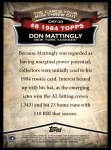 2010 Topps Cards Your Mom Threw Out #33 CMT Don Mattingly  Back Thumbnail