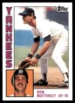 2010 Topps Cards Your Mom Threw Out #33 CMT Don Mattingly  Front Thumbnail