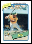 2010 Topps Cards Your Mom Threw Out #29 CMT Rickey Henderson  Front Thumbnail