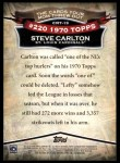 2010 Topps Cards Your Mom Threw Out #19 CMT Steve Carlton  Back Thumbnail