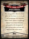 2010 Topps Cards Your Mom Threw Out #8 CMT Bob Gibson  Back Thumbnail