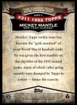2010 Topps Cards Your Mom Threw Out #1 CMT Mickey Mantle  Back Thumbnail