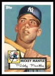 2010 Topps Cards Your Mom Threw Out #1 CMT Mickey Mantle  Front Thumbnail