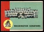 1963 Topps #131   Senators Team Front Thumbnail