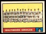 1961 Topps #159   Orioles Team Front Thumbnail