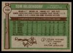 1976 Topps #168  Tom Hilgendorf  Back Thumbnail