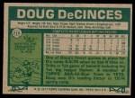 1977 Topps #216  Doug DeCinces  Back Thumbnail