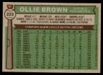 1976 Topps #223  Ollie Brown  Back Thumbnail