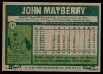 1977 Topps #244  John Mayberry  Back Thumbnail