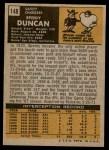 1971 Topps #148  Speedy Duncan  Back Thumbnail