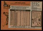 1975 Topps #270  Jim Neilson   Back Thumbnail