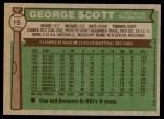1976 Topps #15  George Scott  Back Thumbnail