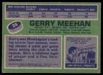 1976 Topps #35  Gerry Meehan  Back Thumbnail