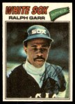 1977 Topps Cloth Stickers #18  Ralph Garr  Front Thumbnail