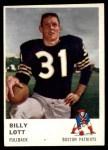 1961 Fleer #178  Billy Lott  Front Thumbnail