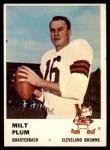 1961 Fleer #10  Milt Plum  Front Thumbnail