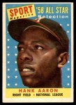 1958 Topps #488   -  Hank Aaron All-Star Front Thumbnail