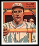 1934 Diamond Stars Reprint #108  Walter Berger  Front Thumbnail