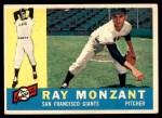 1960 Topps #338  Ray Monzant  Front Thumbnail