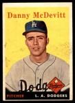1958 Topps #357  Danny McDevitt  Front Thumbnail