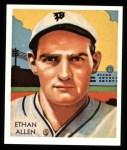 1934 Diamond Stars Reprint #92  Ethan Allen  Front Thumbnail