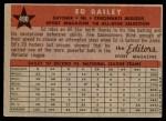 1958 Topps #490   -  Ed Bailey All-Star Back Thumbnail