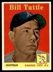 1958 Topps #23 YN Bill Tuttle  Front Thumbnail