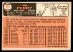 1966 Topps #283  Jim Perry  Back Thumbnail